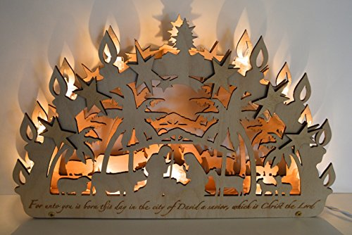 Candle Arch Schwibbogen Nativity by Lee Koldewyn