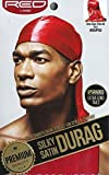 #9: RED BY KISS Premium Silky Satin DURAG Men's Cap Doo RAG (RED)