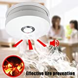 Smoke Alarm,DaSinKo GS528A Portable Photoelectric Smoke Detector and Fire Alarm Sensor with 9V Battery Operated,UL Listed,2 Pack