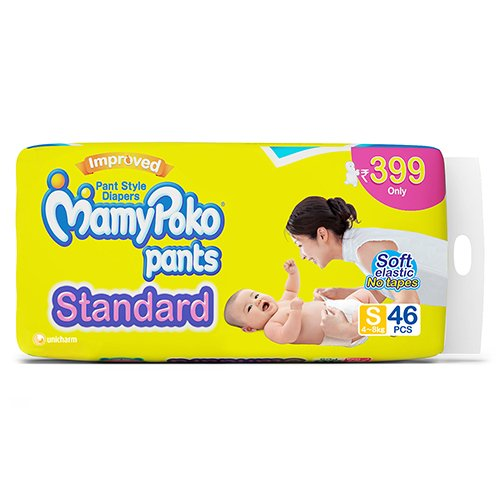 MamyPoko Pant Small Size Diapers (46 Count)