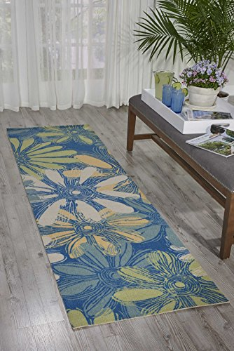 Nourison Home & Garden Area Rug, 2'3 x 8', Blue from Nourison