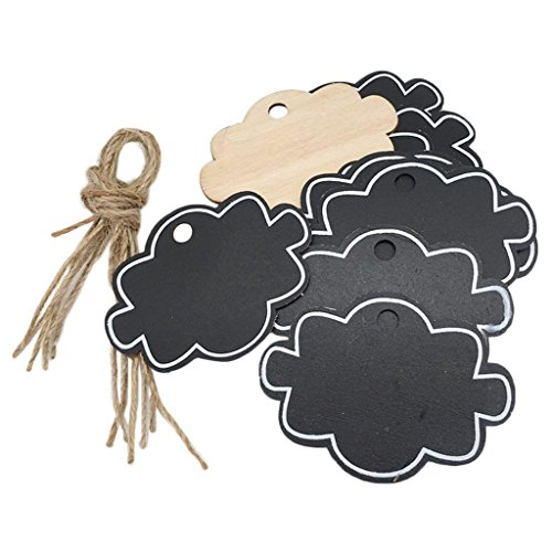 Plaque Party Favor Name (10pcs Wooden Clouds Mini Blackboard Small Chalkboard Memo Board for Message Board Signs Hanging Tags)