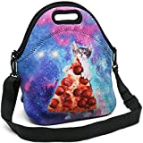 Insulated Neoprene Lunch Bag - Removable Shoulder Strap - X-Large Size Reusable Thermal