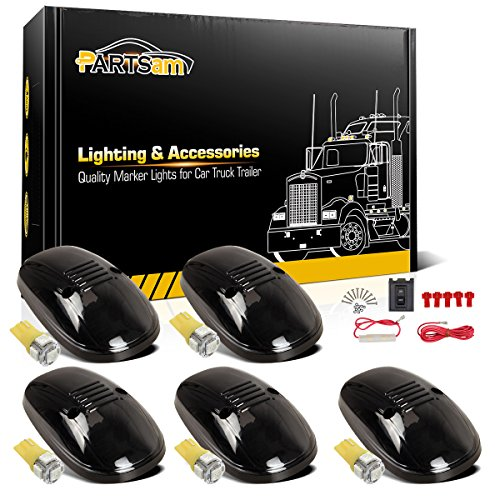 partsam-5x-smoke-cab-marker-roof-top-lamp-light-161-t10-5050-amber-led-for-1999-2000-2001-2002-dodge
