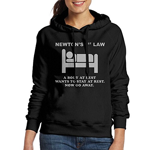 Wxf Womens Newton's 1st Law - Now Go Away Funny Walk Black Sweater XL