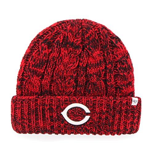 - '47 MLB Cincinnati Reds Women's Prima Cuff Knit Beanie, One Size, Red