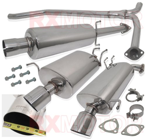 ACURA TL BASE DUAL CATBACK STAINLESS STEEL EXHAUST MUFFLER 4