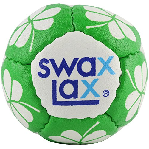 SWAX LAX Limited Edition Lacrosse Training Ball - Same Size and Weight as Regulation Lacrosse Ball but Soft - No Rebounds, Less Bounce (Shamrock) Practice Ball