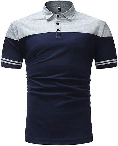 POLP Polos de Golf Hombre Camisas Casual Hombre Verano y Vacaciones Fiestas Blusas y Camisas Fiesta Polo de Rayas Slim Fit Manga Corta Negro Muscle fit M L XL 2XL: Amazon.es: Ropa