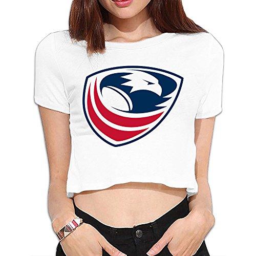 TLK Custom Women Usa Rugby Logo Crop Top ()