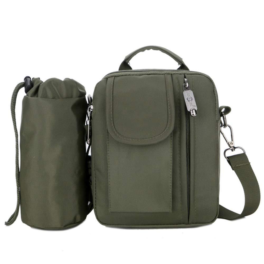 Messenger Bag Briefcase Multi-Pocket Made of Waterproof Nylon,Green ALTINOVO Outdoor Casual Shoulder Bag for Men