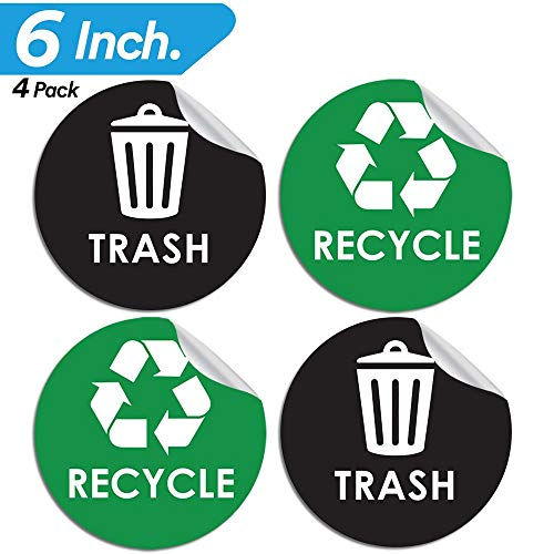(Pixelverse Design Recycle Sticker Trash Can Decal - 6
