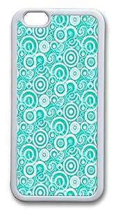 IMARTCASE iPhone 6 Case, Aqua Retro Circles iPhone 6 Case TPU White