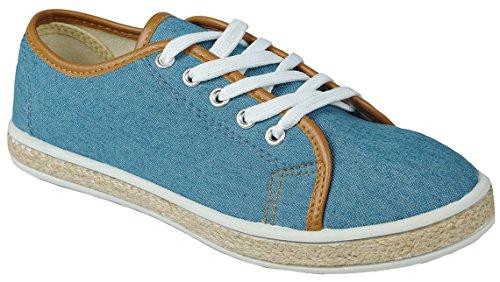 para redonda PU cordones mujer JJF mujer plajos vaquero Para Bludnm punta Zapatos Shoes wqq8YSt
