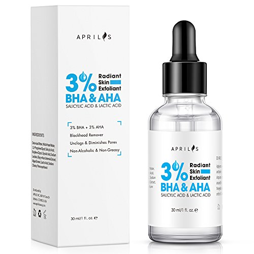 3% BHA & AHA Liquid Salicylic Acid & Lactic Acid Exfoliant for Pimples, Blackheads, Whiteheads and Enlarged Pores, Best Glycolic Acid Face Cleanser for Oily and Acne Prone Skin, 30 ml/1 fl. oz.