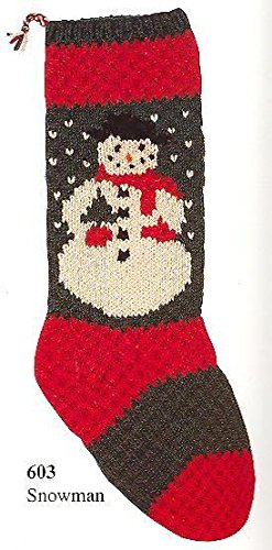 Christmas Stocking Knitting Kit; Snowman by Candide
