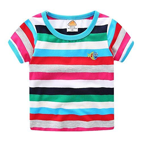 (LittleSpring Little Boys T-Shirt Rainbow 3T Fish)