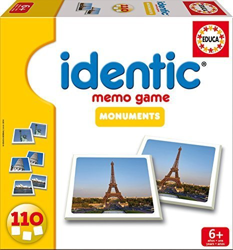 Identic Memo Game - Monuments by Educa