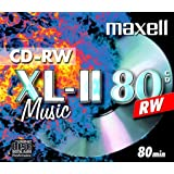 Maxell CD-RW 80 Music Jewel Case 10 Pack 10mm