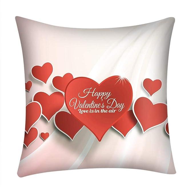 Fundas de Cojines,SHOBDW Regalo de San Valentin Impreso Rojo ...