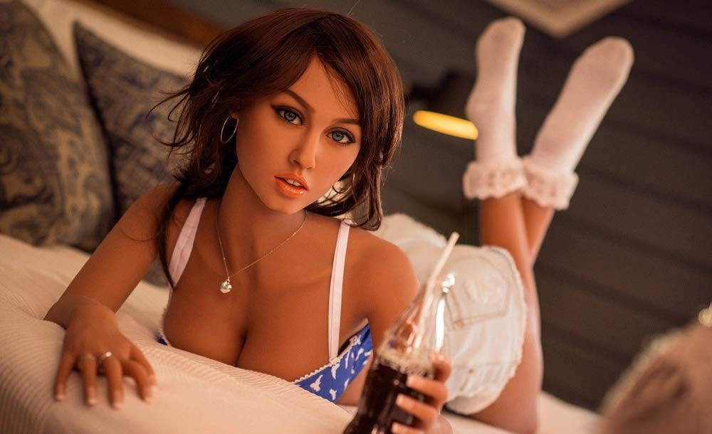 AILIJIA 165cm (5ft5′) C-Cup Tanned Small Tits Amazing Sex Doll Jiggling Little Boobs and Well Defined Hips Male Real Doll Sex-Customized Aailable