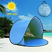 Aigo Easy Set-up Beach Tent Automatic Pop Up Instant Beach Shade Portable Outdoors Portable Family Sun Shelter with Carry Case (for 2-3persons) …