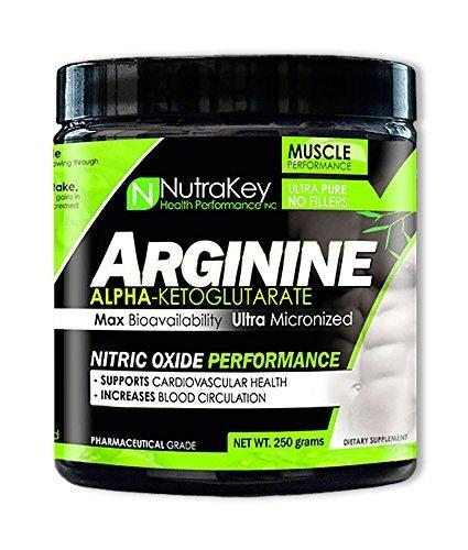 Best Arginine Powders - NutraKey Arginine Powder 250 g by
