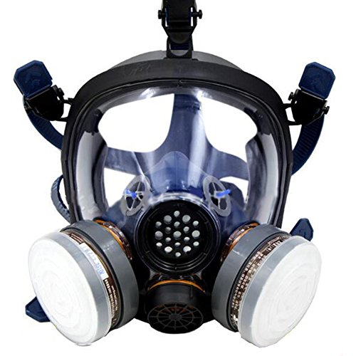 Holulo Organic Vapor Full Face Respirator Respiratory Protection Gas Masks Paint Pesticide Chemical Formaldehyde Anti Virus Full w/ Activated Carbon Respirator (Gas Vapor)
