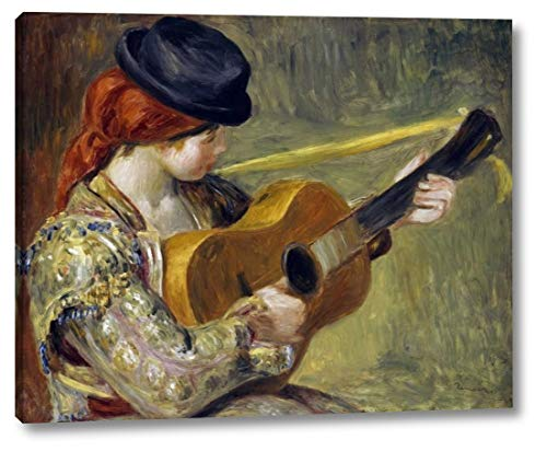 (Girl with a Guitar, 1897 by Pierre-Auguste Renoir - 22