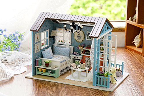 Flever Dollhouse Miniature DIY House Kit Creative Room With Furniture for Romantic Gift (Forest Time) (Couch Your Own Assemble)