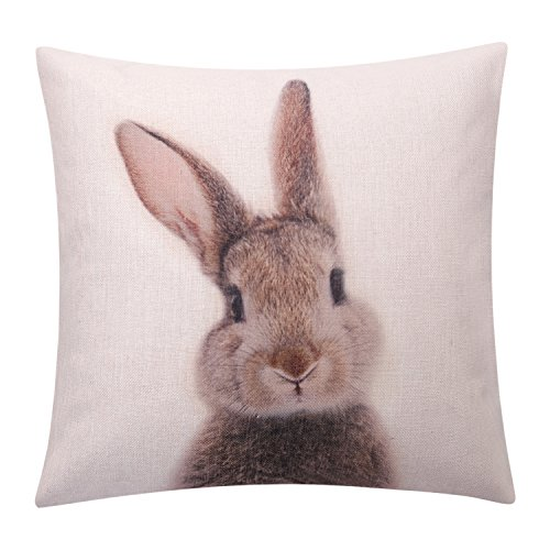 BreezyLife Easter Rabbit Throw Pillow Cover Printed, used for sale  Delivered anywhere in USA