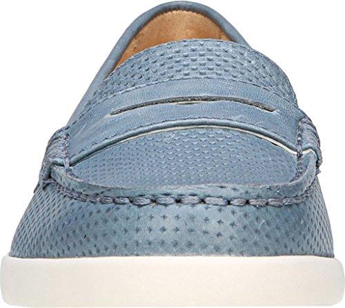 Naturalizer Mujeres Gwen Boat Shoe Cuero Azul