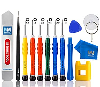 MMOBIEL 14 in 1 Professional Anti Static Screwdriver Tool Kit with Y 0.6 and Instant Magnetizer/Demagnetizer for iPhone X, 8/8 7/7 Plus