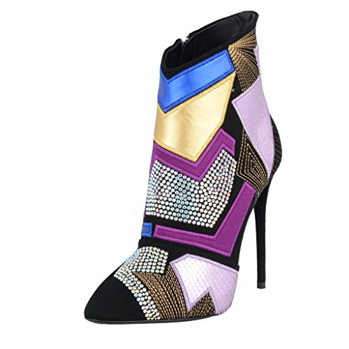 Leather Design Zanotti Shoes Womens color Multi Snake Giuseppe Skin Ankle Boots UZXwwq