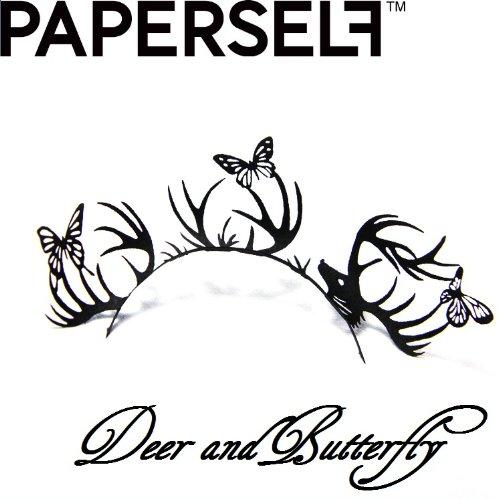 신감각 페이퍼 아이래시☆PAPERSELF[페이퍼 셀프] deer&butterfly 【디어&버터플라이】 1페어 (블랙)