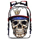 HANRUI Personalized 3D Skull Studded Casual Travel