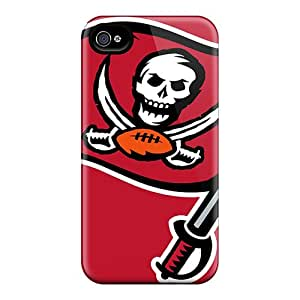 Excellent Cell-phone Hard Cover For Iphone 4/4s With Allow Personal Design Attractive Tampa Bay Buccaneers Image Marycase88