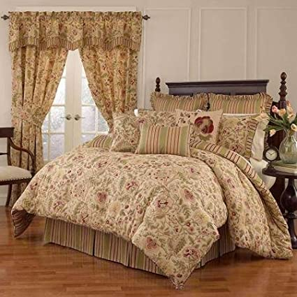 Amazon Com Waverly Imperial Dress 4 Piece Bedding Comforter Set
