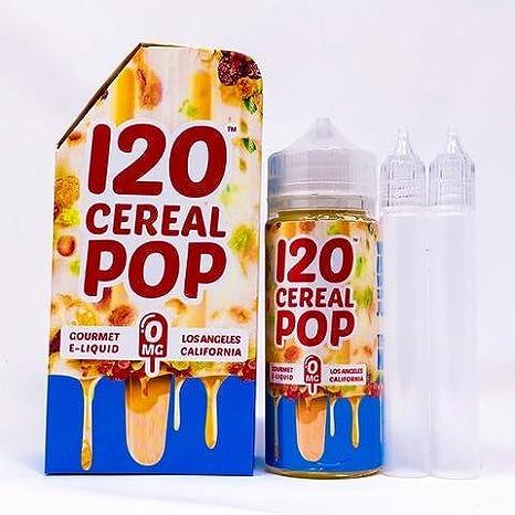 Mad Hatter Juice E-líquido del cigarrillos E-Líquido 120 ml 70vg 30pg E-Líquido para cigarillo electrónico sin nicotina Todo sabor (120 Cereal Pop)