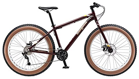 Mongoose Vinson Fat Tire Bike, Burgundy, 26
