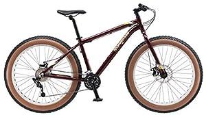 "Amazon.com : Mongoose Vinson Fat Tire Bike, Burgundy, 26"" Wheel"