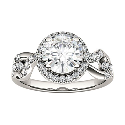 Forever Brilliant Round 6.5mm Moissanite Ring-size 7, 1.38cttw DEW By Charles & Colvard by Charles & Colvard