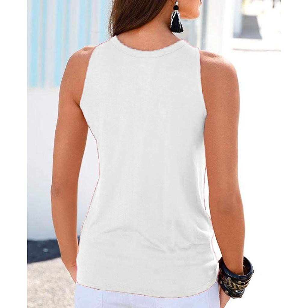 Witspace Womens Summer Strappy Vest Top Sleeveless Shirt Blouse Casual Tank Tops
