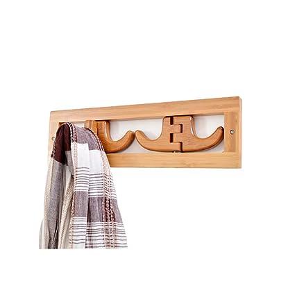 Perchero flotante de bambú con montaje en pared - Perchero ...