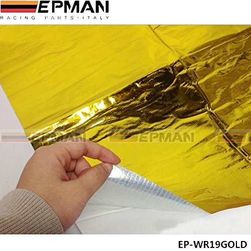 EPMAN 39'' x 47'' Self Adhesive Reflect a Gold Heat Wrap Barrier For Thermal Racing Engine Exhaust Air Intake