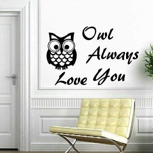 HhGold Una Pared Simple búho Letras Dormitorio extraíble decoración Pegatina: Amazon.es: Hogar