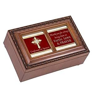cottage garden confirmation sponsor faith love prayer wood finish small jewelry. Black Bedroom Furniture Sets. Home Design Ideas