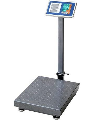 Bakaji Báscula Electrónica Pesa embalaje con columna y plataforma Báscula Pesa cargas con pantalla digital estructura