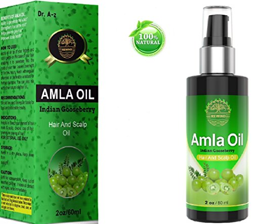 (Amla Oil Organic Gooseberry Hair and Scalp Essential Oil Indian Goose Berry 100% Natural Prevents Premature Greying Promotes Hair Growth Stops Alopecia No Chemicals Alma Pump Spray No Mess)