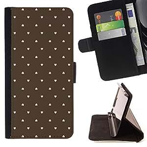 For Sony Xperia M4 Aqua Case , Patrón del corazón del lunar Wallpaper- la tarjeta de Crédito Slots PU Funda de cuero Monedero caso cubierta de piel